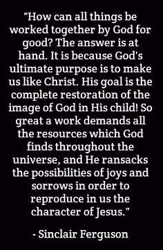 Becoming like Christ...