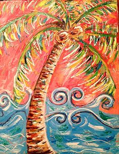 Whimsical Palm Tree by Rebecca Williams