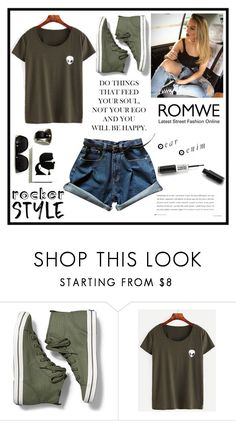 """""""Romwe - rocker"""" by love88-90 ❤ liked on Polyvore featuring Keds"""