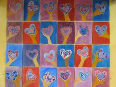 hand and heart art 2nd grade
