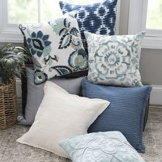 When pillows are this fun, you can't stop at one! If your comforter or quilt is a solid color, pillows are a great way to add pizazz to your bedroom!