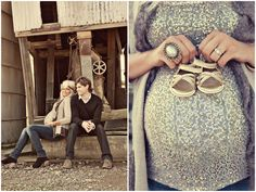 Best maternity pictures I've ever seen! Love the colors, poses, outfits...  *~can you get pregnant again so we can take pics like these?  LOL, super cute.