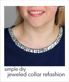 I love this simple way to dress up an old t-shirt! So sparkly and easy. | tutorial at: madiganmade.com