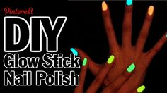 Glow Stick Nails - Corinne Vs. Pin #1 | A good reminder of taking any diy tutorial on Pinterest or other places online with a pinch of salt (and using common sense following them).