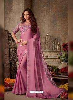 Satin Saree, Chiffon Saree, Pink Saree, Georgette Sarees, Silk Chiffon, Saree Gown, Net Saree, Silk Dress, Lehenga