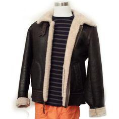#VINCE Men Size L Slim Fit 100% Lamb Cracked Shearing Brown Flight Bomber jacket visit our ebay store at  http://stores.ebay.com/esquirestore