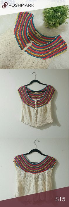 FOREVER21 knitted rainbow top Please let me know if you have any questions or want to make an offer! ❤ Forever 21 Tops Blouses