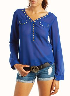 studded blouse $21.90 I love this blouse