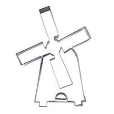 German Made Cookie Cutters - Cookie Cutter Dutch Windmill Stainless Steel