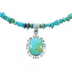 Southwestern Sterling Silver Turquoise Bead Necklace Set www.turquoisejewelry.com