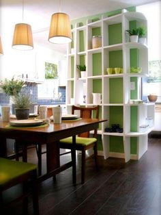 Attractive Shelves Give Floor-to-Ceiling Storage