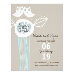 Discount DealsWhimsical Blue Owls Love Save The Date Announcemen Invitationslowest price for you. In addition you can compare price with another store and read helpful reviews. Buy