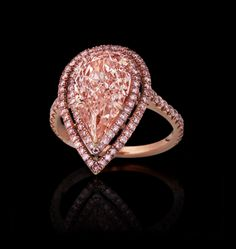 Pear Shaped Pink Diamond in Micro Pave Setting...Please contact me for more details!