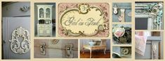 Girl in Pink--Annie Sloan and paint inspiration, lots of shabby fun too