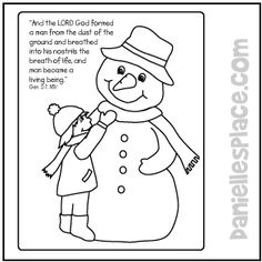 Snowman Color Sheet from www.daniellesplace.com