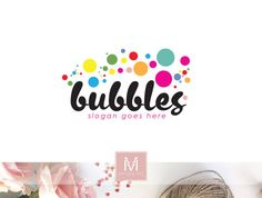 Bubbles Logo, Soap Logo, Sweets Logo, Children Logo, Party Logo, Cake Logo, Bakery Logo, Watermark