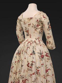 Block Printed Italian Gown DAR museum