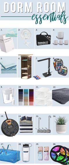 Best of 2020 | All Things Amazon Prime | hi Sugarplum! Guy Dorm Rooms, College Dorm Rooms, Cool Dorm Rooms, College Tips, First Apartment Essentials, Dorm Essentials, Dorm Room Necessities, Hanging Closet Organizer, Dorm Room Organization