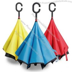 This Rainy Season Reversed Your #Umbrella with C-shaped Handle at Affordable Price from #Promotionalgiftwholesale