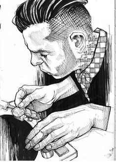 untitled Sketch Tattoo, Sketch Art, Art Faces, Face Art, Lea Nahon, Hatch Drawing, Inspirational Drawing, Cross Hatching, Portrait Sketches