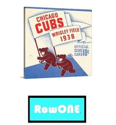Row One Brand Chicago Cubs art, vintage Chicago Cubs art, Chicago canvas art, Chicago man cave ideas, Chicago sports art, Row One Brand, man cave ideas, vintage sports art, best man cave decor