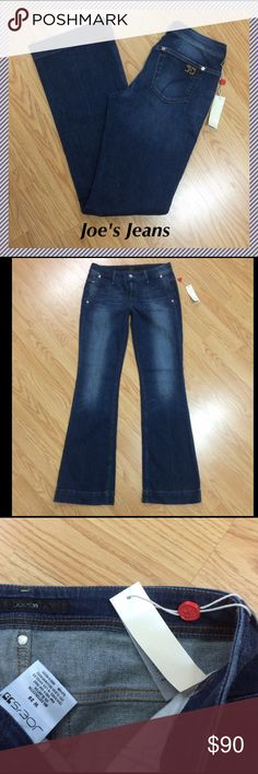 "NWT Joe's flare leg jeans size 29 x 33.75"" Joe's flare leg jeans in Fonda wash with trouser style front pockets • 33.75"" inseam, 8.5"" rise, 15"" across waist, 20.5"" leg opening • 98%cotton, 2% elastan • Brand new with tags ☺ Joe's Jeans Jeans Flare & Wide Leg"