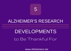 As National Alzheimer's Awareness Month and National Caregivers Month comes to a close we take time to reflect on the research developments in November.