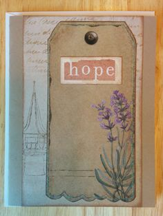 Hope Card by Cindysnoopy on Etsy, $3.50