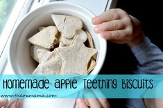 """Homemade Apple Teething Biscuits 