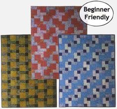 Designs to Share with You quilt pattern - Baby Steps - designed by Ursula Riegel  One easy block – three totally different looks!  This is a great quilt pattern for the novice quilter who wants to learn how to sew binding completely by machine. The quilt pattern is part of Ursulas