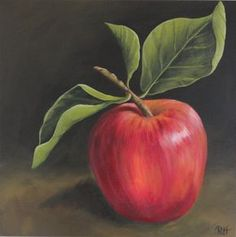 The Apple, acrylic painting on 20x20 gallery wrapped canvas.