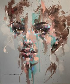 FullSizeRender 14 Abstract Portrait Painting, Portrait Art, Art And Illustration, A Level Art Themes, Jimmy Law, Nature Sketch, Grunge Art, Impressionism Art, Art Sketchbook
