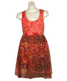 Plus Size Chiffon Chic Dress –Size: 2x Color: Orange
