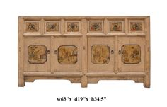 $1750 Light Wood Color Graphic Sideboard Buffet Table - Golden Lotus Antiques