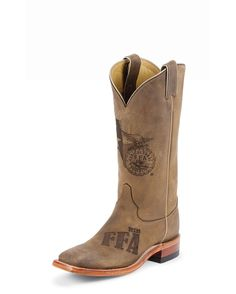 Justin Women's FFA Tan Distressed Cowhide Boot - FFA10L