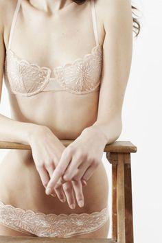 Stroking in white transparent undies
