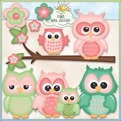 Cute Owls 1 - NE Kristi W. Designs Clip Art : Digi Web Studio, Clip Art, Printable Crafts & Digital Scrapbooking!