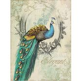 Found it at Wayfair - Peacock Poise I Graphic Art on Wrapped Canvas