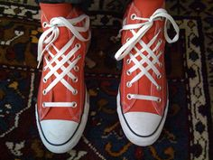 The Look: Shoelace Swag - Michelle Phan Ways To Tie Shoelaces, Ways To Lace Shoes, Michelle Phan, Creative Shoes, Funky Shoes, Fall Shoes, Look Cool, Chuck Taylor Sneakers, Your Shoes