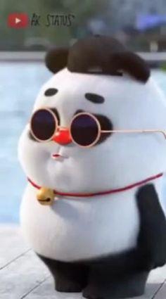 Cute Panda Cartoon, Panda Funny, Cute Cartoon Images, Cute Cartoon Characters, Cute Love Cartoons, Cute Cartoon Wallpapers, Funny Cartoons, Cute Funny Baby Videos, Cute Funny Babies