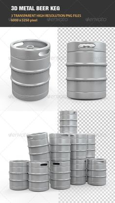 Metal Beer Keg  #GraphicRiver
