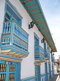 The nice balconies out of wood in Guatapé are a beautiful attraction. Starting your trip in Medellín you reach this little town within two hours. Colombia South America, Latin America, Places To Travel, Places To See, Places Around The World, Around The Worlds, Ecuador, The Beautiful Country, Beautiful Places To Visit
