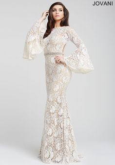 #78. Bring on the drama with the bell sleeves on Jovani 35160