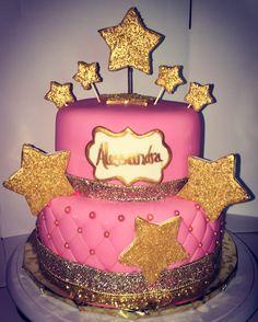 Glitzy glam sprinkle cake