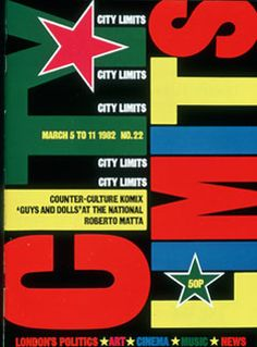 City Limits magazine cover, March 1982. City Limits, Graphic Designers, Graphic Art, Editorial, Illustration Art, March, David, King, Culture