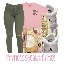 """"""""""" by prvncessbeautifulmee ❤ liked on Polyvore featuring Retrò, River Island, Casetify and Michael Kors"""
