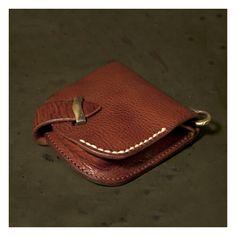Хару [итальянский плечо] старинные обработки 2 раза бумажник [HC-502]
