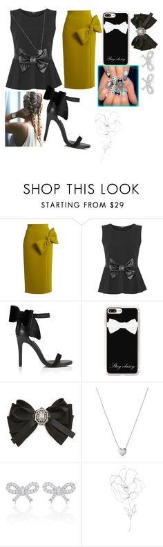 """""""BOWS"""" by janysha2369 ❤ liked on Polyvore featuring Roksanda, WearAll, Miss Selfridge, Casetify, Cara, Links of London, Blume and plus size clothing"""