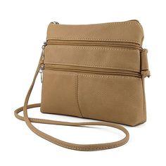 Donalworld Women Small Hobo Messenger Bag PU Leather Shoulder Bag