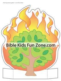 Color-illustrated Burning Bush craft for you to use during the preschool and toddler lessons.